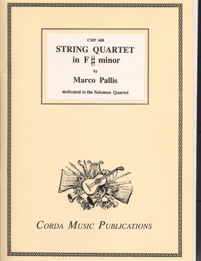 Pallis, Marco: String Quartet in F# Minor, score and parts