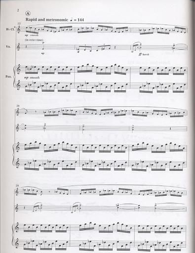 HAL LEONARD Rorem, Ned: End of Summer Trio in Three Movements (violin, clarinet, piano; score & parts)
