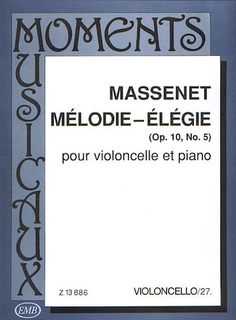 HAL LEONARD Massenet: Melodie - Elegie Op.10, No. 5 (cello, piano)