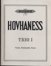 Hovhaness: Trio No.1, Op. 3 (violin, cello, piano)