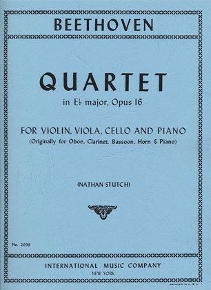 International Music Company Beethoven, L.van: Piano Quartet in Eb op.16 (violin, viola, cello, piano)