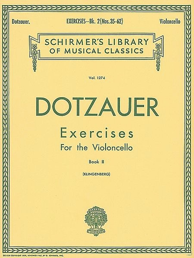 HAL LEONARD Dotzauer, J.J. (Klingenberg): Exercises for the Cello, Bk. 2
