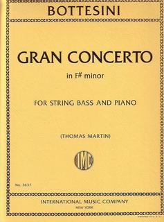 International Music Company Bottesini, G.: Gran Concertino in f# minor (string bass & piano)