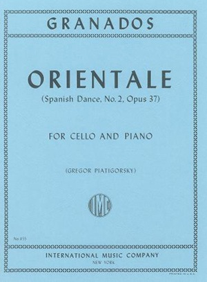 International Music Company Granados, Enrique: Orientale - Spanish Dance #2 (cello & piano)