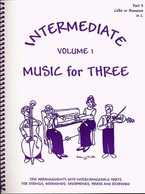 Last Resort Music Publishing Kelley, Daniel: Music for Three Intermediate Vol.1 (cello)