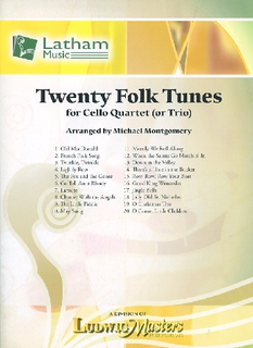 LudwigMasters Montgomery, M. (arr.): 20 Folk Tunes for Cello Quartet or Trio (3-4 cellos, and score)