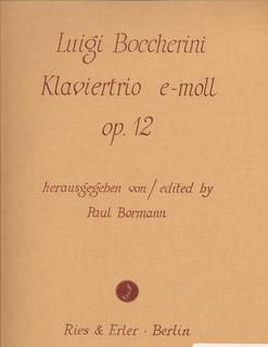 Carl Fischer Boccherini, L.: Piano Trio in E minor Op.12 (violin, Cello, Piano)