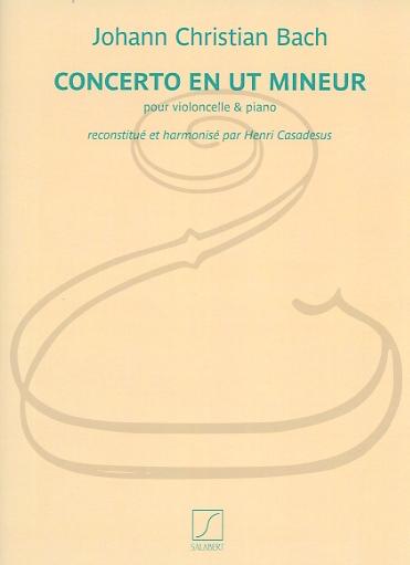 HAL LEONARD Bach, J.C. (Casadesus): Concerto in C minor (cello & piano) Salabert