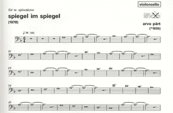 Carl Fischer Part, Arvo: Spiegel Im Spiegel (cello & piano) UE