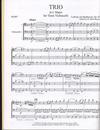 HAL LEONARD Beethoven, L.van (Rogers): Trio in C Major, Op.87, transcribed for three cerllos (score & parts)