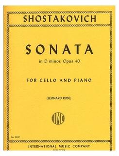 International Music Company Shostakovich (Rose): Sonata, Op.40 (cello & piano) IMC