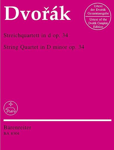 Barenreiter Dvorak, Antonin: String Quartet Op.34 in d minor