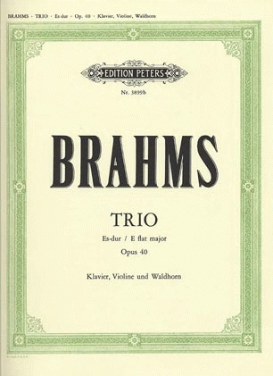 Brahms, J.: Trio in Eb Op.40 (Horn, Violin, Viola/Cello, and piano)
