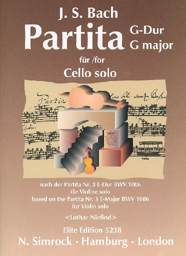 HAL LEONARD Bach, J.S. (Niefind) : Violin Partita No.3 transcribed (Cello)