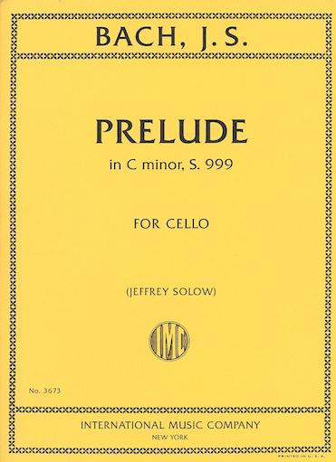 International Music Company Bach (Solow): Prelude in C minor, S.999 (cello)