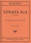 International Music Company Handel, G.F. (Sankey): Sonata #3 Op.1 #6 in F major (bass & piano)