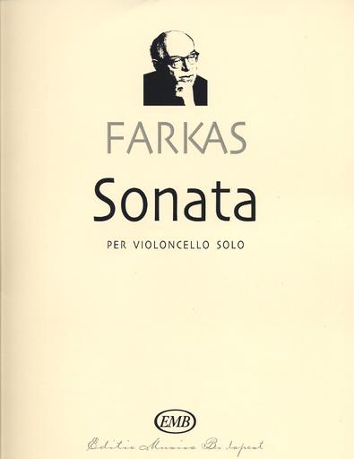 HAL LEONARD Farkas, Ferenc: Sonata for cello solo