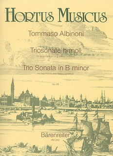 Barenreiter Albinoni, Tomaso: Trio Sonata in B minor Op.1/8 (2 violins, Cello and piano)