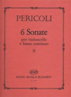 HAL LEONARD Pericoli: 6 Sonate (cello & piano)