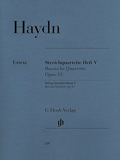 "HAL LEONARD Haydn, F.J. (Feder, ed.): String Quartets, Vol.5, Op. 33, ""Russian Quartets"", urtext (2 violins, viola, and cello)"