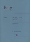 HAL LEONARD Berg, Alban: String Quartet Op. 3