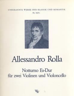 Rolla, Alessandro: Notturno in Eb Major (2 violins & cello)