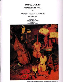 Masters Music Publications Bach, J.S. (David): 4 Duets (S.802-5) for Violin & Viola
