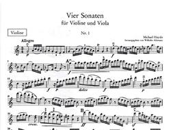 LudwigMasters Haydn, MICHAEL: Four Sonatas for Violin & Viola, Book 1, No.1 in C, No.2 in D