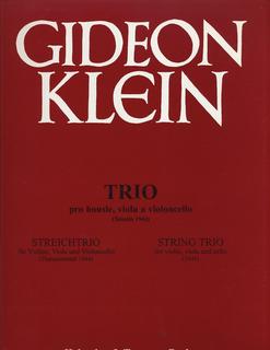 HAL LEONARD Klein, Gideon: String Trio Terezin, 1944 (violin, Viola, Cello) score & parts