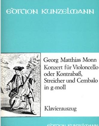 Monn (Nagy): Cello Concerto in G minor (cello & piano) PETERS