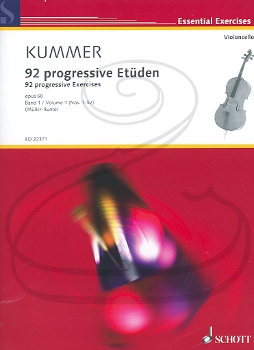 HAL LEONARD Kummer (Muller-Runte): 92 Progressive Exercises, Op.60, Vol.1, Nos.1-57 (cello) Schott