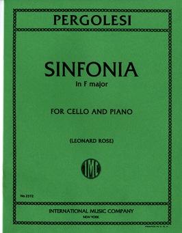 International Music Company Pergolesi, G.B.: Sinfonia in F major (cello & piano)