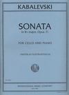 International Music Company Kabalevsky, Dmitri (Rostropovich): Sonata Op.71 (cello & piano)