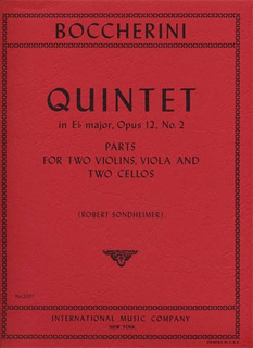 International Music Company Boccherini, Luigi: Quintet in Eb major, Op.12 No.2 (2 violins, viola, 2 cellos)