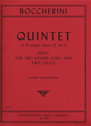 International Music Company Boccherini, Luigi: Quintet in Eb major, Op.12 No.2 (2 violins, viola, 2 cellos)