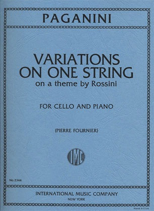 International Music Company Paganini, Nicolo: Variations on One String ''Moses'' by Rossini (cello & piano)