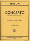International Music Company Haydn (Rose): Concerto in D Major, Hob.VIIb, No.2 (cello & piano)
