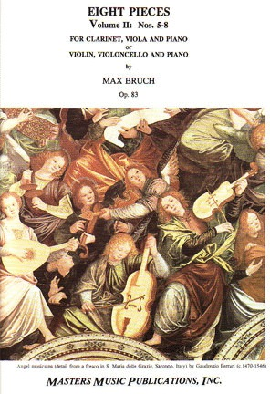 LudwigMasters Bruch, Max: Eight Pieces Op.83 V.2 (clarinet, viola, piano) or   (violin, cello, piano)