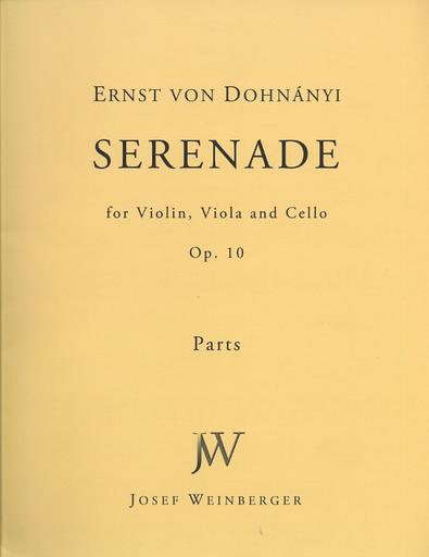 HAL LEONARD Dohnanyi: Serenade Op.10 (violin, Viola & cello)