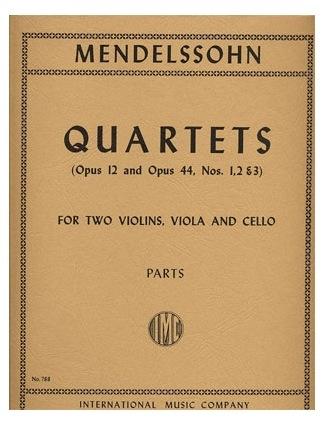 International Music Company Mendelssohn: Quartets-Op.12, Op.44 No.1-3 (string quartet) IMC