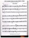 HAL LEONARD Jaffe, Gerard: 5 Short Pieces for String Trio (violin, Viola, Cello) (2 violins, Cello) Out of Print