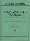 International Music Company Mendelssohn (Kurtz): Song Without Words in D Major, Op.Posth.109 (cello & piano)