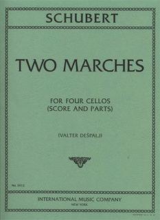 International Music Company Schubert: 2 Marches (4 cellos)