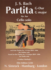 HAL LEONARD Bach, J.S. (Niefind): Partita in G-based on Violin Partita No.3 (cello solo)