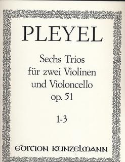 Pleyel: 6 Trios Op.51 #1-3 (2 violins & cello)