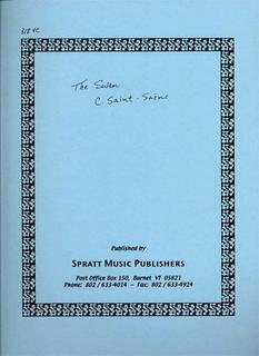 Saint-Saens, Camille (Krane): The Swan (cello & piano)