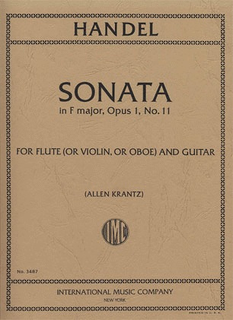 International Music Company Handel, G.F.: Sonata in F Major Op.1 No. 11 for violin & guitar