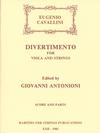 Rarities for Strings Cavallini, Eugenio (Antonioni): Divertimento for Viola and String Quartet, Score & Parts