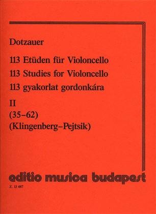 HAL LEONARD Dotzauer (Pejtsik): 113 Studies Vol.2, No.35-62 (cello), Edito Musica Budapest
