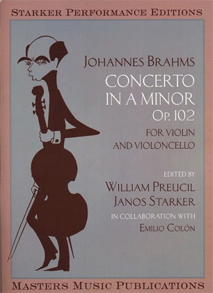 LudwigMasters Brahms, J. (Preucil/Starker): Concerto for Violin and Cello, Op.102 - Double Concerto (violin, cello, & piano)